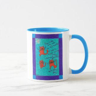 Kleine Kitty 3 Kats Kaffee-Tasse Tasse