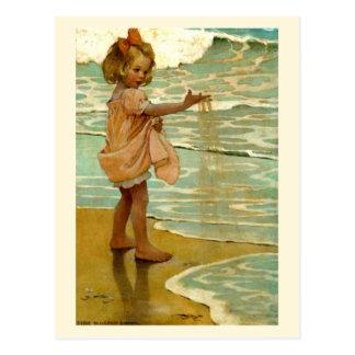 Kleine Körner des Sandes Postkarte