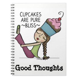 Kleine Kuchen sind reines Glück Spiral Notizblock