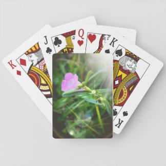 Kleine lila Blüten-Spielkarten Spielkarte