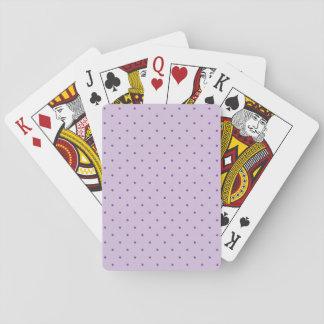 Kleine lila Polka-Punkte auf Lila Pokerkarten
