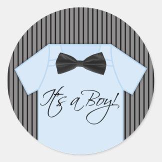 Kleine Mann-Babyparty Runder Aufkleber