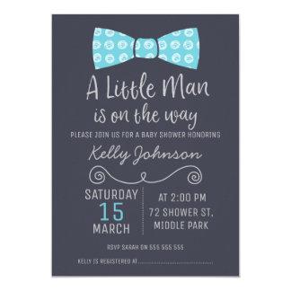 Kleine Mann-Bogen-Krawatten-Baby-Duschen-Einladung 12,7 X 17,8 Cm Einladungskarte