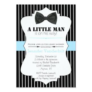 Kleine Mann-Bogen-Krawatten-Baby-Duschen-Einladung Karte