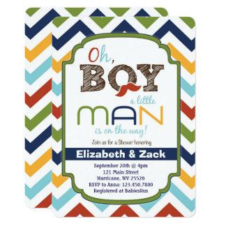 Kleine Mann-Schnurrbart-Babyparty-Einladung 12,7 X 17,8 Cm Einladungskarte