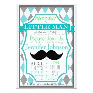 Kleine Mann-Schnurrbart-Babyparty-Einladungen Karte