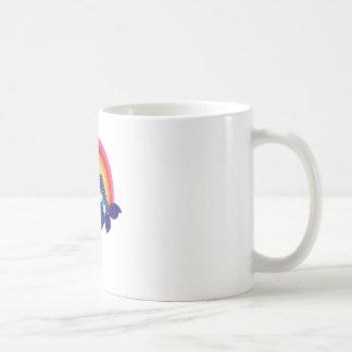 Kleine Meerjungfrau, die in einer Blume stillsteht Kaffeetasse