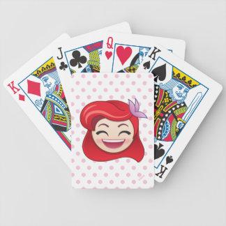 Kleine Meerjungfrau Emoji   Prinzessin Ariel - Bicycle Spielkarten