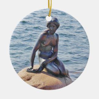 Kleine Meerjungfrau-Kopenhagen-Kreis-Verzierung Keramik Ornament