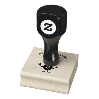 Kleine Monster Customizeable Lehrer-Briefmarke Gummistempel