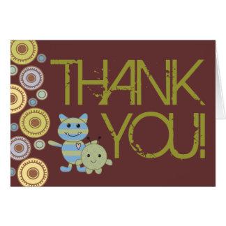 Kleine Monster danken Ihnen Karte