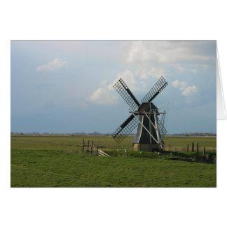 Kleine niederländische Windmühle in der Karte