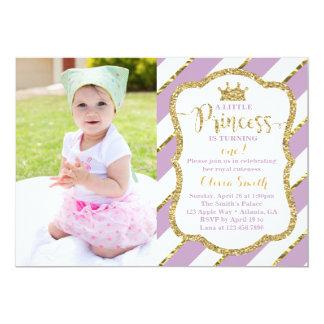Kleine Party Einladung Prinzessin-Birthday