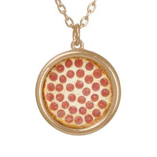 Kleine Pizza-Halskette Halskette Mit Rundem Anhänger