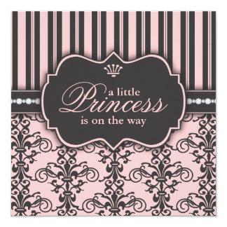 Kleine Prinzessin auf der Personalisierte Ankündigungskarte