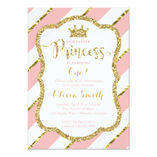 Kleine Prinzessin Birthday Invitation im Rosa u. 12,7 X 17,8 Cm Einladungskarte