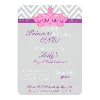 Kleine Prinzessin First Birthday Invitation 12,7 X 17,8 Cm Einladungskarte