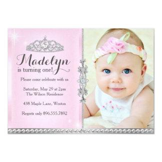Kleine Prinzessin First Birthday Pink Invitation 11,4 X 15,9 Cm Einladungskarte