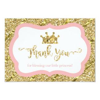 Kleine Prinzessin Thank You Card, Rosa, 8,9 X 12,7 Cm Einladungskarte