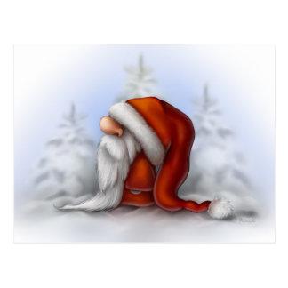 Kleine Sankt im Schnee Postkarte