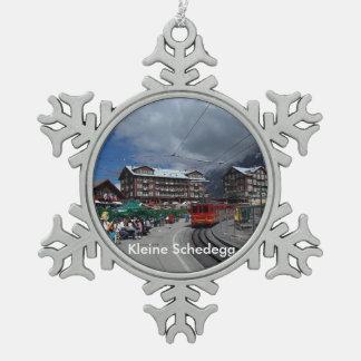 Kleine Schedegg 1 Zinn-Verzierung Schneeflocken Zinn-Ornament