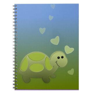 Kleine Schildkröte Spiral Notizbuch