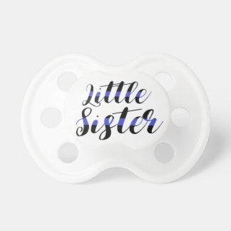 Kleine Schwester-dünne blaue Linie Schnuller
