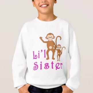Kleine Schwester-niedliche Affen 2 Sweatshirt