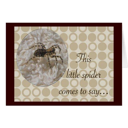 Kleine Spinnen-Geburtstags-Karte Karte