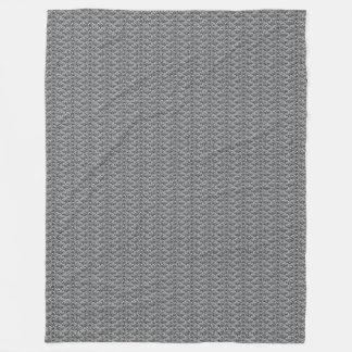 Kleine springende Fisch-graue Fleece-Decke Fleecedecke
