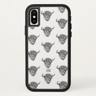 Kleine Straggly Hochland-Kuh (weiß) iPhone X Hülle