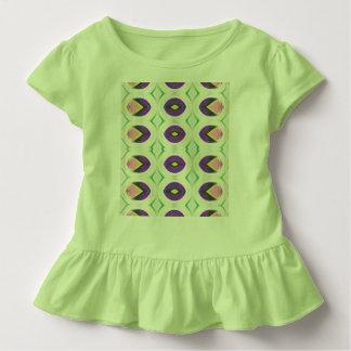 Kleine Tulpen in den rosa und lila Mädchen Kleinkind T-shirt