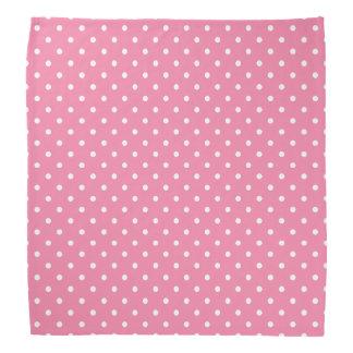Kleine weiße Tupfen auf Pink Kopftuch