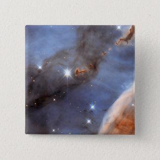Kleiner Abschnitt des Carina-Nebelflecks Quadratischer Button 5,1 Cm