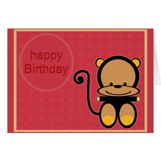 kleiner Affe alles Gute zum Geburtstag Grußkarte