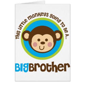 Kleiner Affe, der geht, ein großer Bruder zu sein Karte