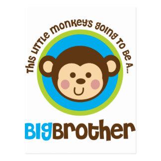 Kleiner Affe, der geht, ein großer Bruder zu sein Postkarte