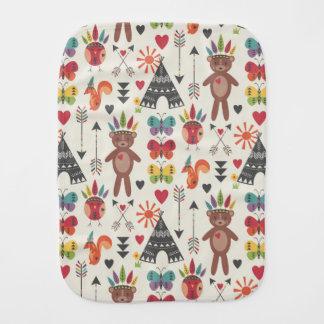 Kleiner amerikanischer Ureinwohnerburp-Stoff Baby Spucktuch