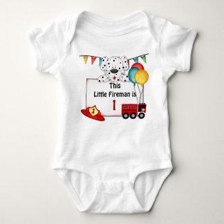 Kleiner Feuerwehrmann Dalmation - fertigen Sie Baby Strampler