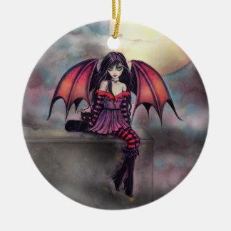 Kleiner gotischer Vampirs-feenhafte Keramik Ornament