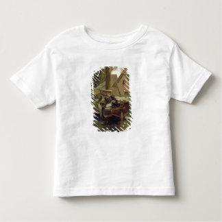Kleiner Hafen mit einem Boot Kleinkinder T-shirt