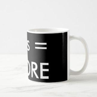 Kleiner ist mehr Kaffee-Tasse Tasse