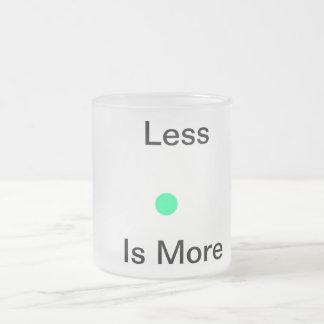 Kleiner ist mehr mattglastasse