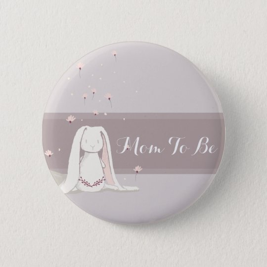 Kleiner Kaninchen Babyparty-Knopf II Runder Button 5,7 Cm