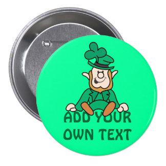 Kleiner Kobold - addieren Sie Ihren eigenen Text Runder Button 7,6 Cm