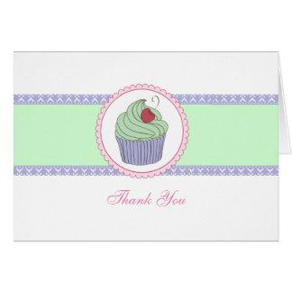 Kleiner Kuchen danken Ihnen, NIEDLICHES kawaii zu Karte