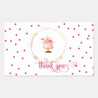 ★ kleiner Kuchen danken Ihnen Rechteckiger Aufkleber