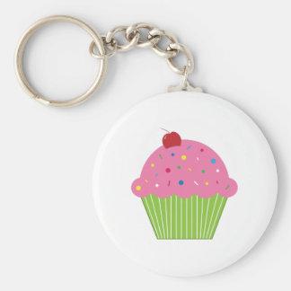 Kleiner Kuchen Standard Runder Schlüsselanhänger