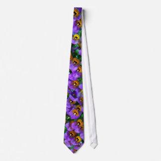 Kleiner lila Pansy-Entwurf Krawatte