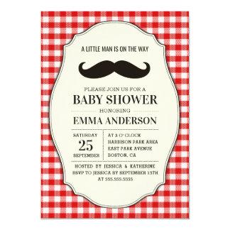 Kleiner Mann-Babyparty-Einladungs-Junge - Karte